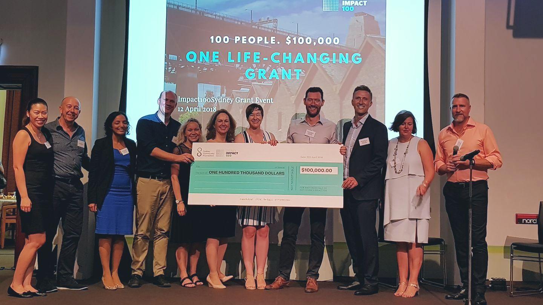 Impact100 Sydney $100,000 Grant 2018